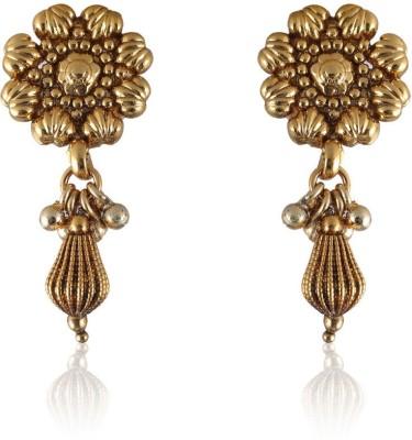 Vastradi Chandbali Style Brass, Alloy Drop Earring
