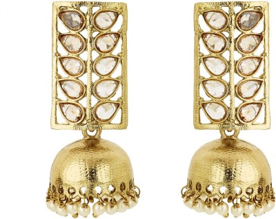 BeBold Jhumki Pearl Long Brass Jhumki Earring