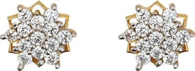 Jewel99 Spring Sparkle Swarovski Zirconia Gold Stud Earring