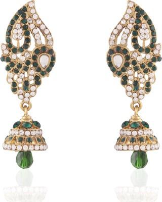 I Jewels Kundan Alloy Jhumki Earring