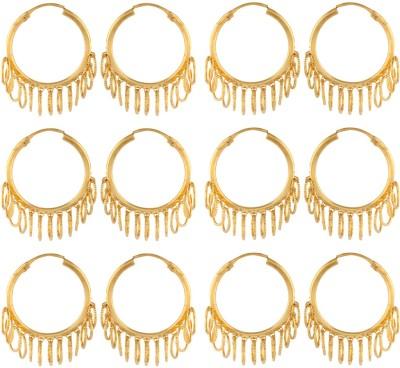 Dubbai Gold Collective Rings Metal Earring Set