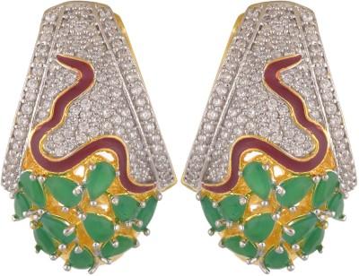 Royal Lady Festive Cubic Zirconia Alloy Huggie Earring