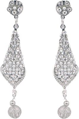 Neelam Cone Sparkle Brass Drop Earring