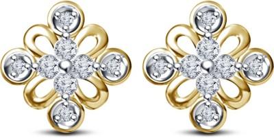 Kirati cute Flower Shape Cubic Zirconia Sterling Silver Stud Earring