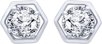 Navvya Special Collectoion Cubic Zirconia Silver Stud Earring