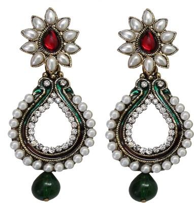 Shreya Collection Spring Sparkle-Multicolor Alloy Chandbali Earring