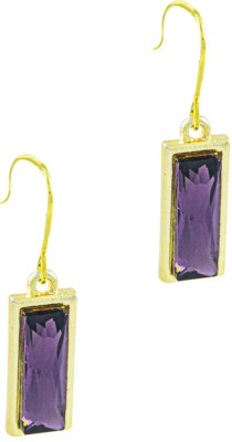 Savvy Modest Style Crystal Brass Drop Earring