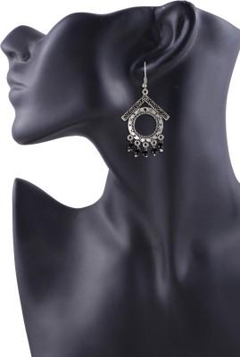 Arittra Black GS German Silver Dangle Earring