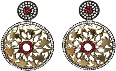 Prystal Beautiful Round Indian Alloy Drop Earring