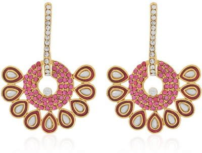 Jewels Guru New Look Zircon Alloy Dangle Earring