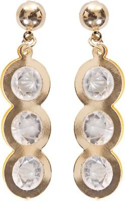 Grand Jewels Three Stone Alloy Huggie Earring