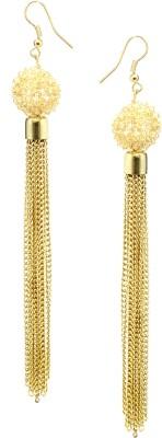 Fashion Era Golden Partywear Metal Tassel Earring