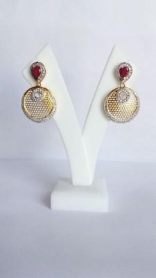 Shree Ji Creations Cubic Zirconia Brass Dangle Earring