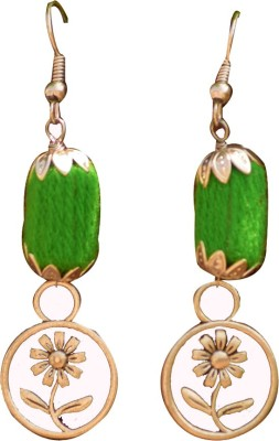 Ba No Batwo Flower Metal Dangle Earring