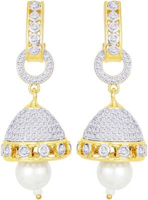Peora Shimmering Brass Jhumki Earring