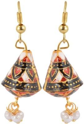 Waama Jewels Golden Brass Jhumki Engagement party wear girls earring Metal Jhumki Earring