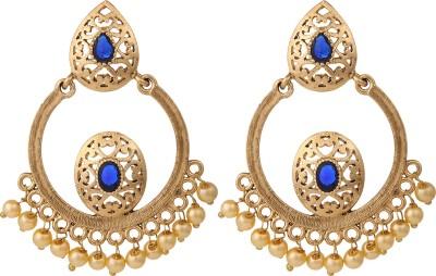 Voril Fashion Alloy Chandbali Earring