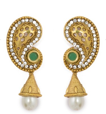 SBS Antique Design Diamond Brass Drop Earring