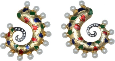 Ved Jewel Sparkle Brass Cuff Earring