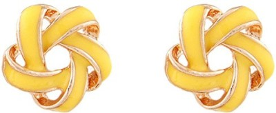 Young & Forever Daisy Intertwining Alloy, Enamel Stud Earring