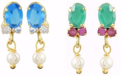 Efulgenz Style Diva Cubic Zirconia Alloy Earring Set