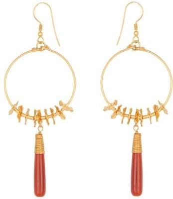 Circuzz Onyx Brass Drop Earring
