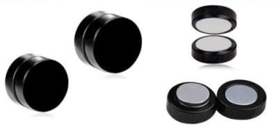 Solidindia Craft MensMagneticEarrings8mm Metal Stud Earring