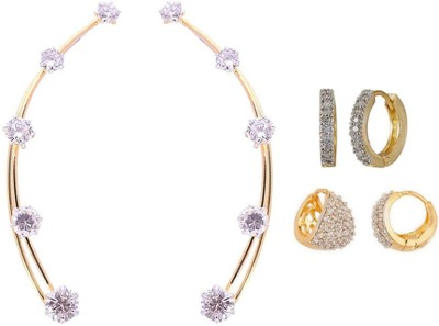 Jewels Galaxy Precious Collection AD JGR558 Alloy Earring Set