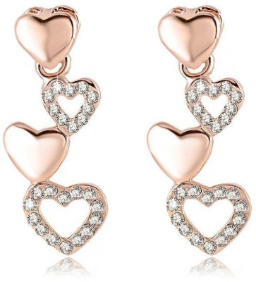 ArietteJewels Love Row Earrings Copper Drop Earring