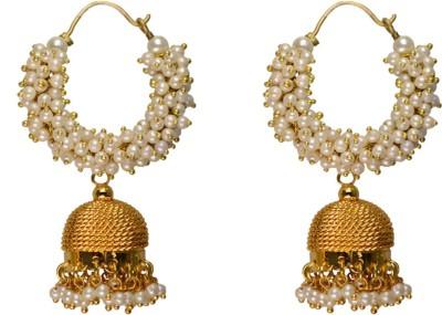 Rasaam Laria Beads Alloy Hoop Earring