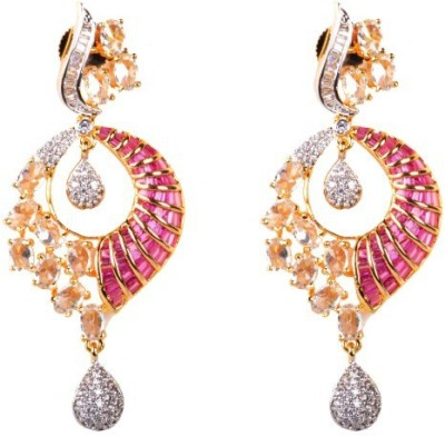 Dipshi Bollywood Style Beautiful A D Stone & Partywear Copper Drop Earring