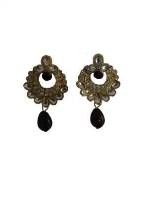 modifier black alloy Crystal Alloy Drop Earring