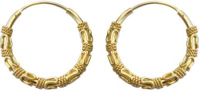 SuvidhaArts Diva Fashion Brass Hoop Earring