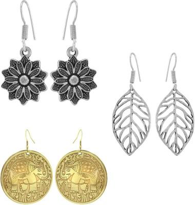 925 Silver Elegant Brass Combo Alloy Earring Set