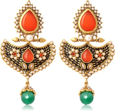 Adwitiya Collection Spring Sparkle Swarovski Zirconia Copper Dangle Earring