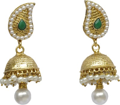 Its About U Cubic Zirconia Metal, Alloy Jhumki Earring