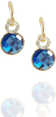 AsiaCraft Gold Plated Blue Dangle Metal Drop Earring