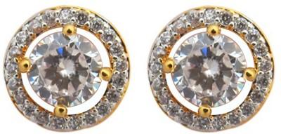 Fashionage Ethnic Delite American Diamond Brass Stud Earring