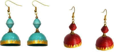 Paperiva Classic Quilled Combo Paper Jhumki Earring