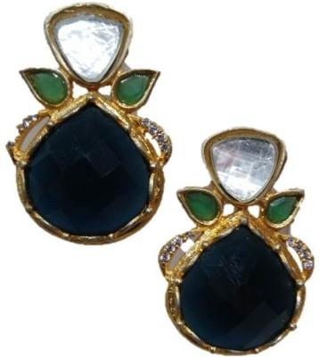 Rajgharana Blue Berry Cubic Zirconia Alloy Stud Earring