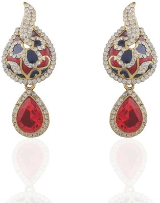Adya Diamond Alloy, Enamel, Crystal Drop Earring