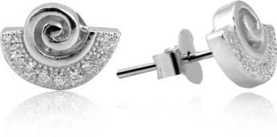 Jewel99 Beryl Swarovski Zirconia Sterling Silver Stud Earring