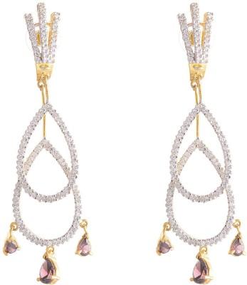 Neckies Ad Cubic Zirconia Brass Drop Earring