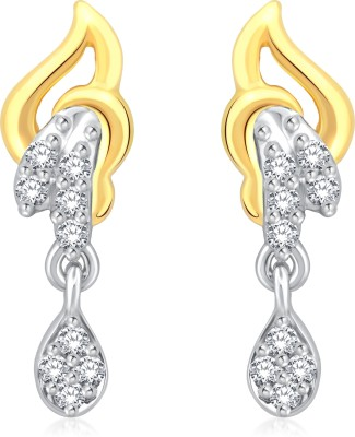 Classic Imaginative Gold And Rhodium Plated Earrings for Women [CJ1006ERG] Cubic Zirconia Alloy Drop Earring