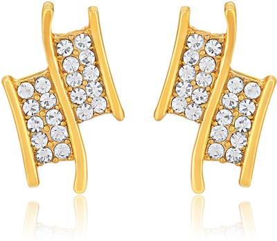 Oviya Understated Elegance Crystal Brass, Alloy Stud Earring