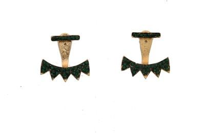 Arohi Jewells & Gems AJG104 Copper Earring Set