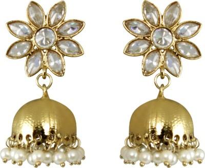CatchMe Golden Alloy Jhumki Earring
