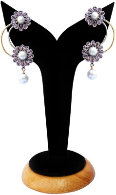 Beauty Palace Spring Sparkle Metal, Brass Drop Earring