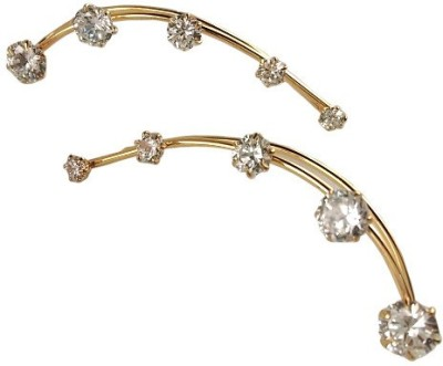 Ratnaraj India American Diamond Brass Cuff Earring