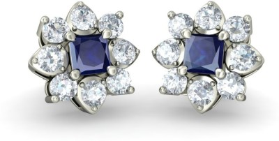 Joyra Artistic Swarovski Zirconia Sterling Silver Stud Earring
